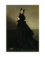 """Lady with a Glove.  Madame Carolus-Duran, nee Pauline Croizette, 1869 by Charles Courtney Curran, 1869 - 11"""" x 14"""""""