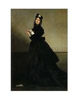 Lady with a Glove.  Madame Carolus-Duran, nee Pauline Croizette, 1869 Fine Art Print