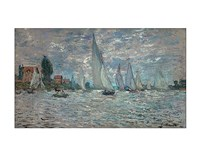 """The Sailboats - Boat Race at Argenteuil, 1874 by Claude Monet, 1874 - 14"""" x 11"""""""