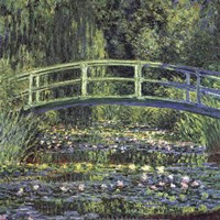 Water Lily Pond, 1899 (blue) Fine Art Print