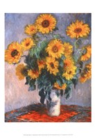 "Vase of Sunflowers by Claude Monet - 13"" x 19"" - $12.99"