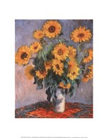 "Vase of Sunflowers by Claude Monet - 11"" x 14"" - $10.99"