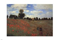 Wild Poppies, near Argenteuil (Les Coquelicots: environs d'Argenteuil), 1873 by Claude Monet, 1873 - various sizes