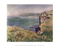 "The Cliff at Varengeville, 1882 by Claude Monet, 1882 - 14"" x 11"""