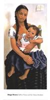 Delfina Flores and her Niece Modesta Fine Art Print