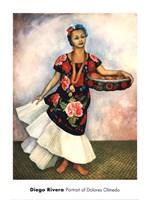 """Portrait of Dolores Olmedo by Diego Rivera - 18"""" x 24"""""""
