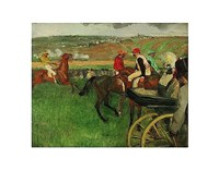 The Race Course: Amateur Jockeys near a Carriage, 1876-1887 Fine Art Print