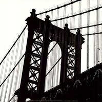 """Manhattan Bridge Silhouette (detail) by Erin Clark - 12"""" x 12"""""""