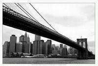 """Manhattan from Brooklyn (b/w) by Erin Clark - 19"""" x 13"""""""