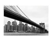 """Manhattan from Brooklyn (b/w) by Erin Clark - 14"""" x 11"""""""