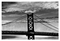 Benjamin Franklin Bridge (b/w) Fine Art Print