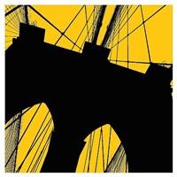 "Brooklyn Bridge (yellow) by Erin Clark - 38"" x 38"""