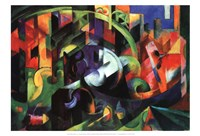 "Abstract with Cattle by Franz Marc - 19"" x 13"""