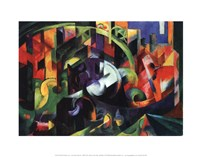 "Abstract with Cattle by Franz Marc - 14"" x 11"""