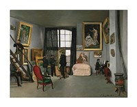 The Painter's Atelier in the rue de la Condamine, 1870 Fine Art Print