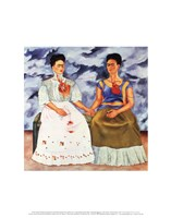 The Two Fridas, 1939 Framed Print