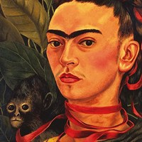 Self Portrait with a Monkey, 1940 (detail) Fine Art Print
