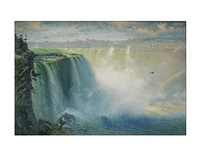 "Blue Niagara, 1884 by George Inness, 1884 - 14"" x 11"""