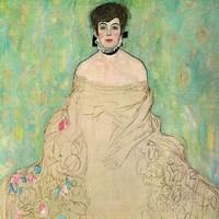 """Portrait of Amalie Zuckerkandl (unfinished)-1918 by Gustav Klimt, 1918 - 12"""" x 12"""", FulcrumGallery.com brand"""