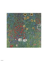 Farm Garden with Sunflowers, around 1905/1906 by Gustav Klimt, 1906 - various sizes, FulcrumGallery.com brand