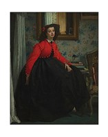 Portrait of Mademoiselle, called Girl with Red Vest, February 1864 Fine Art Print