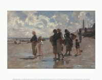 Fishing for Oysters at Cancale, 1878 Fine Art Print