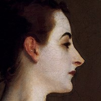 Madame X (head detail) Fine Art Print