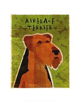 "Airedale by John W. Golden - 11"" x 14"""