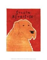 """Golden Retriever by John W. Golden - 11"""" x 14"""""""
