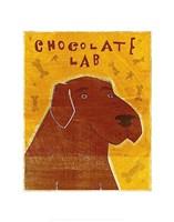 "Lab (chocolate) by John W. Golden - 11"" x 14"""
