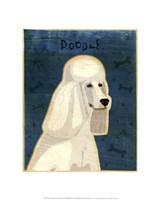 Poodle (white) Fine Art Print