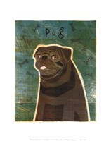 Pug (black) Fine Art Print