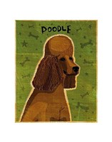 Poodle (brown) Fine Art Print