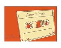 Lunastrella Mix Tape Framed Print