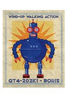 "Boris Box Art Robot by John W. Golden - 13"" x 19"""