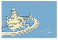 "Lunastrella Space Station by John W. Golden - 19"" x 13"""