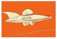 Lunastrella Flying Saucer Framed Print