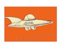 Lunastrella Flying Saucer Fine Art Print