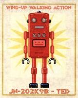Ted Box Art Robot Framed Print