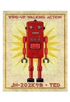 """Ted Box Art Robot by John W. Golden - 13"""" x 19"""""""