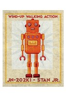 "Stan Jr. Box Art Robot by John W. Golden - 13"" x 19"""