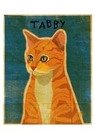 "Tabby (orange) by John W. Golden - 13"" x 19"""