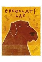 "Lab (chocolate) by John W. Golden - 13"" x 19"""