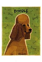 Poodle (brown) Fine Art Print