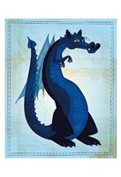 "Blue Dragon by John W. Golden - 13"" x 19"""