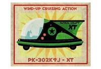"Patrol Craft XT Box Art Tin Toy by John W. Golden - 19"" x 13"""