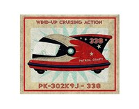 Patrol Craft 338 Box Art Tin Toy Fine Art Print