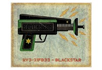 Blackstar Ray Gun Fine Art Print