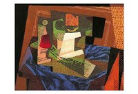 "Fruit Bowl on a Tablecloth by Juan Gris - 19"" x 13"""