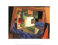 "Fruit Bowl on a Tablecloth by Juan Gris - 14"" x 11"""